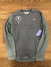 New Balance Tcs Nyc Marathon 2019 Heat Crew Long Sleeve Chambray Heather Men M