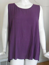 Daisy Fuentes Women's Plus Sleeveless Hi Low Knit Top Purple Size 2x W/tag