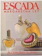 PUBLICITE ADVERTISING 094 1999 MARGARETHA LEY Escada accessoires de bain