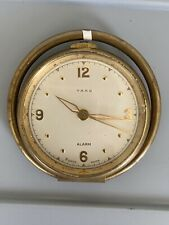 WORKING Yard Alarm 8 Days Swiss Antique Vintage Hand Held Clock Watch Gold