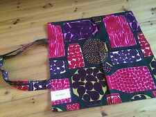 Marimekko red Purnukka shopping magazine tote bag purse Finland, NWT