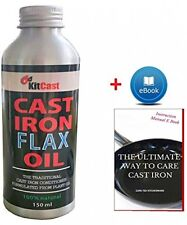 KitCast- Traditional Cast Iron Conditioner Or Cast Iron Oil For Cast Iron And