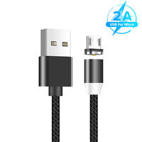 1M MAGNETIQUE MICRO USB CABLE POUR SAMSUNG HTC ANDROID PHONE CORDON FAST CHARGER