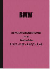 BMW R 51/3 67 67/2 68 Reparaturanleitung Montageanleitung Werkstatthandbuch R67