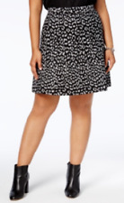 Michael Michael Kors Plus Size Animal-Print Skirt, Size 2X, MSRP $110