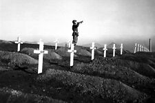 New 5x7 Korean War Photo: Taps at First Marine Division Cemetery at Hamhung