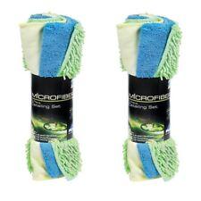 (2 Pack) Peak 3-piece Microfiber Car Detailing Set Towel Removes Sap Bugs Grime