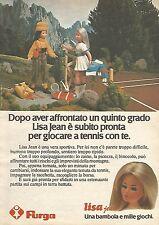 X1383 Lisa Jean gioca a tennis - Furga - Pubblicità del 1977 - Vintage advert