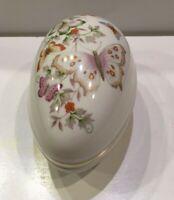 Avon 1979 Easter Butterfly Fantasy Porcelain Treasure Egg Trinket Box