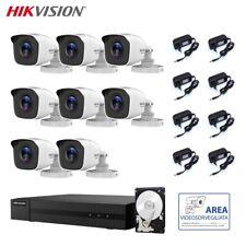 KIT VIDEOSORVEGLIANZA HIKVISION DVR 8 CANALI 8 TELECAMERE 2 MPX HD 500 GB