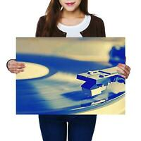 A2 | Retro Record Player Vinyl Music Size A2 Poster Print Photo Art Gift #14191