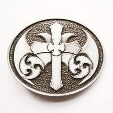 Celtic Christian Cross Metal Belt Buckle