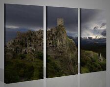Quadri moderni stampe su tela CRACO il paese fantasma Basilicata Italia 130x90