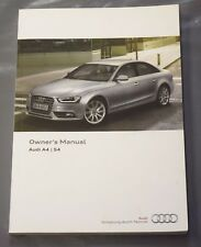 GENUINE AUDI A4 S4 SALOON AVANT ALLROAD 2011-2015 OWNERS MANUAL HANDBOOK