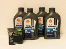 Shell Advance Ultra 4T 10W-40 / Ölfilter Suzuki LS650 Savage Bj 86 - 09