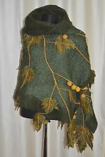 merino filz,felted scarf,Damenschal,weft,blanket shawl,ladies,wickeln,Halstuch