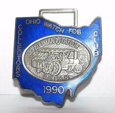 Aultman & Taylor 25 hp Steam Tractor Pocket Watch Fob OWFCC Ohio Club 1990