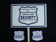 1 HOMELAND SECURITY SIGN + 2 DECALS  - 1 STAKE ..#PS-410
