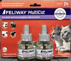 FELIWAY MULTICAT 2 REFILLS KIT (48 Ml Each) Calming Comfort
