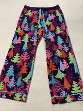 Nick & Nora XL Purple Colorful Xmas Tree Fleece Pajama Lounge Pants