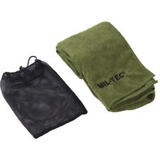 MIL-TEC MICROFIBER MILITARY TOWEL SOFT HIKING CAMPING HAND CLOTH 80x40cm OLIVE