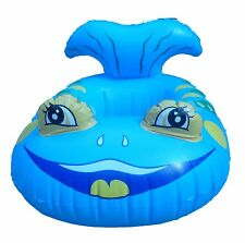 Smiley pesce barca, gonfiabile, con impugnature, Baby Nuoto Sedile/Barca, Nuovo