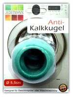 Antikalk Waschball Ø 5,5 cm für Waschmaschine & Geschirrspüler | Waschkugel