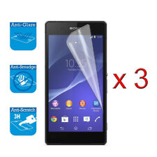 For Sony Xperia Z2 Screen Protector Cover Guard LCD Film Foil x 3