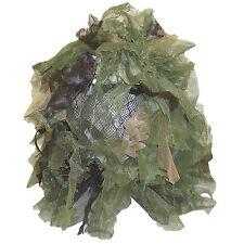 Bushrag Chameleon Water Resistant Ghillie Face Mask Veil Balaclava Woodland Camo