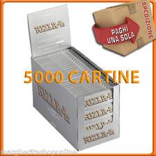 Rizla Cartine SILVER CORTE 1 BOX da 100 libretti = 5000 CARTINE!
