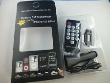 Remote FM Transmitter iPhone 4G & iPod Control Car Charger Adapter Fernbedienung