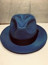 DOBBS FIFTH AVE NEW YORK FLORENTINE MILAN MENS STRAW HAT MADE IN USA SZ 6 7/8