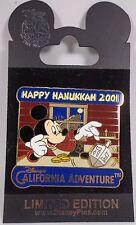 Disney Pin DLR Happy Hanukkah 2001 Mickey Mouse Le 2400