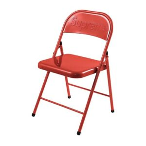 Supreme Metal Folding Chair Red 2020 FW20 100% Authentic NEW Fast Shipping!!!