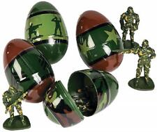 Camouflage Plastic Eggs Filled With Toy Soldiers (12 Pack) Easter Baskets Hunt