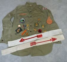 Vintage Boy Scout Metal & Patch Lot Eagle Scout Badge Order of Arrow Sashes