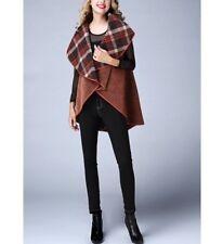 Jerry T Women's Reversible Brown & Orange Cape 2X 22 24 Plus Size Jacket SR7070