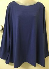 MAGGIE T Blue, Long Sleeve Top -S3- Exc Con