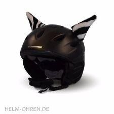 Helmohren Öhrchen Ohren Deko f Helm/ Skihelm/ Snowboardhelm/ Kinderhelm Zebra