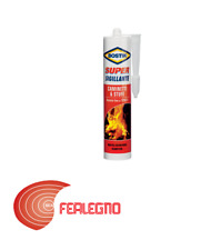 530GR Sealant Silicone Refractory Fireplaces Stoves High Temperatures Bostik