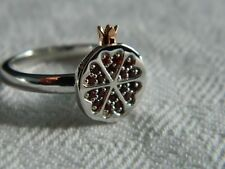 Clogau Sterling Silver & 9ct Welsh Gold Catalina Garnet Ring RRP £169.00 size P