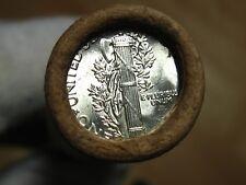 (ONE) FRB Denver Mercury Silver Dime Roll Double D-Mint Ends