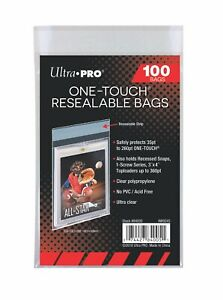Ultra Pro - ONE-TOUCH Resealable Bags (100) - Holds Toploaders, ONE-TOUCH Series