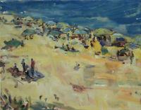Art Original Oil Painting by RM Mortensen Landscape Seascape Beach Ocean Coast
