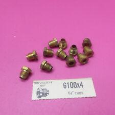 """12 EATON WEATHERHEAD THREADED SLEEVE NUTS 6100X4 1/4"""" TUBE (B152)"""