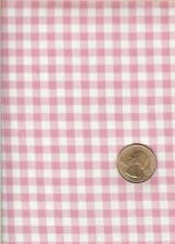 PINK/WHITE GINGHAM COTTON FABRIC - ONE YARD
