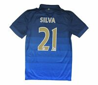 Manchester City 2014-15 Authentic Away Shirt Silva #21 S Soccer Jersey