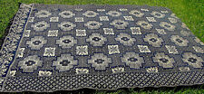 "Dated 1846 2-panel Jacquard coverlet by Muir of Indiana, 88"" x 75""  *"