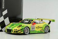 Porsche 911 991 GT3 R Vln Nürnburgring 2017 Manthey Grello #911 1:18 Minichamps