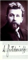 RUSSIAN Composer GRETCHANINOV Hand SIGNED AUTOGRAPH + PHOTO + DECORATIVE MAT